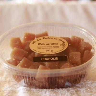 Les ruchers du sancy pate de miel propolis 350g